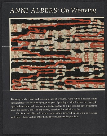 thumbnail image for Anni Albers papers, 1924-1969