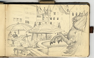 thumbnail image for Grace Albee sketchbook of travel in Germany and France