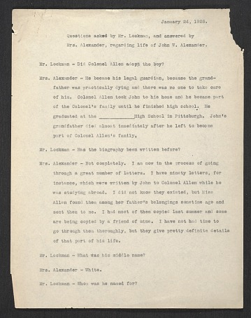 thumbnail image for Typescript of an interview of Elizabeth Alexander