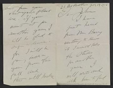 thumbnail image for Charles Dana Gibson letter to John White Alexander