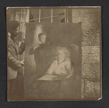 thumbnail image for John White Alexander with one of his paintings