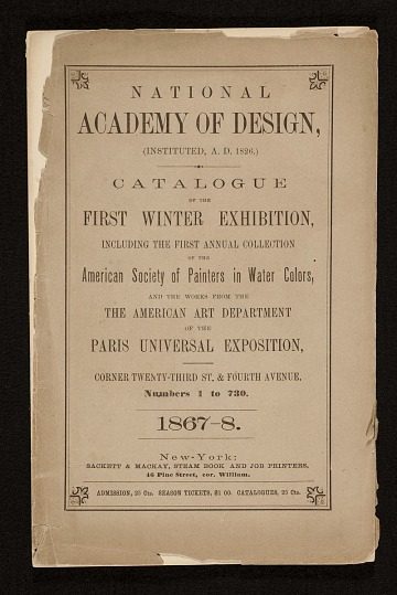 thumbnail image for <em>First Winter Exhibition</em> catalog of the National Academy of Design