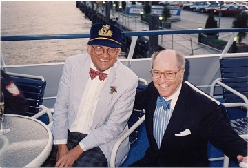 thumbnail image for David Hockney and André Emmerich on a boat