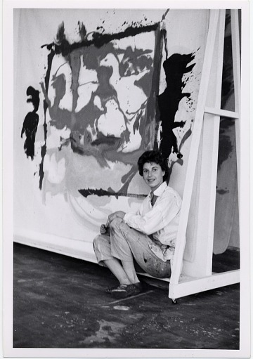 thumbnail image for Helen Frankenthaler in her studio