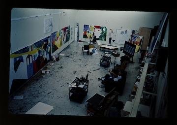 thumbnail image for David Hockney's studio