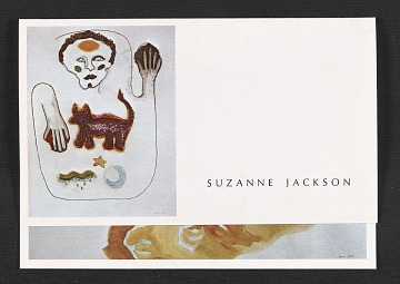 thumbnail image for Announcement for Suzanne Jackson exhibit of paintings and drawings at Ankrum Gallery