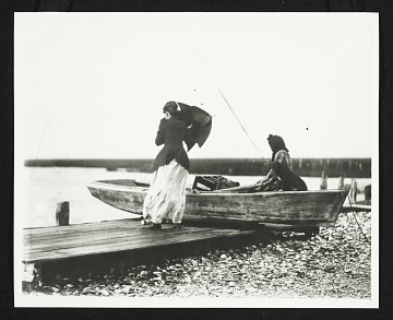 thumbnail image for Figure study of two women on the beach