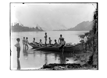 thumbnail image for Boys on an industrial riverfront
