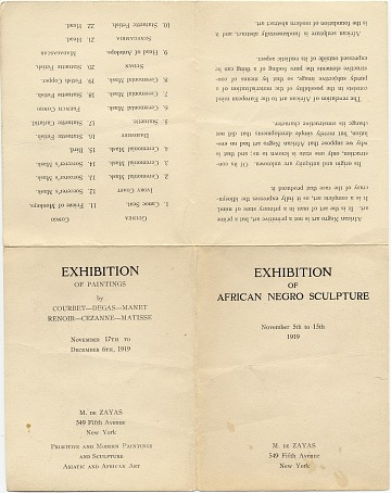 thumbnail image for Exhibition of African Negro Sculpture