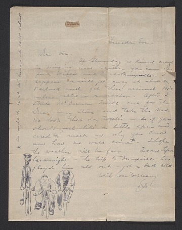 thumbnail image for Robert Frederick Blum letter to Otto H. (Otto Henry) Bacher