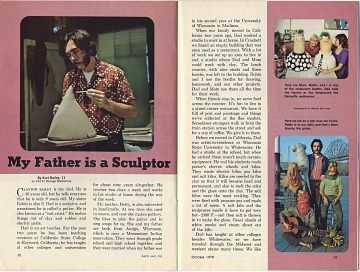 thumbnail image for 'My Father is a Sculptor' in <em>Jack and Jill</em> magazine