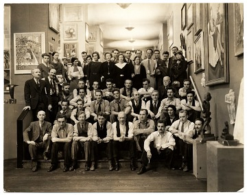 thumbnail image for Salons of America Exhibition staff, artists and friends