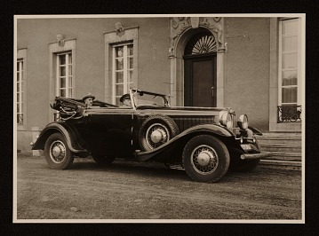 thumbnail image for Rudolf Bauer in his 1930 Graham-Paige automobile.