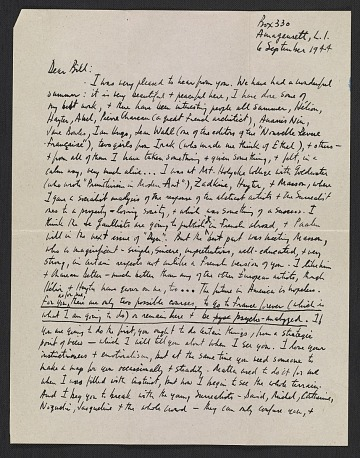 thumbnail image for Robert Burns Motherwell letter to William Baziotes