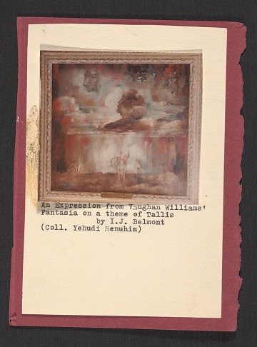 thumbnail image for Reproduction of <em>An expression from Vaughan Williams' Fantasia on a theme of Tallis</em>, artwork by Ira Jean Belmont