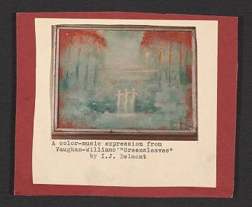 thumbnail image for Reproduction of <em>Greensleeves</em>, painting by Ira Jean Belmont