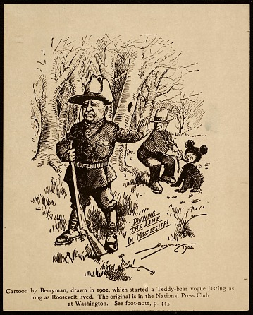 thumbnail image for Photograph of the cartoon <em>Drawing the line in Mississippi</em> by Clifford Berryman, drawn in 1902