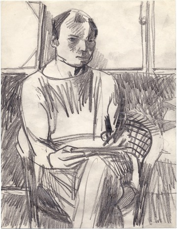 thumbnail image for Elmer Bischoff self portrait