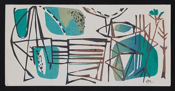 thumbnail image for Henrietta Mueller Christmas card to Kathleen Blackshear and Ethel Spears