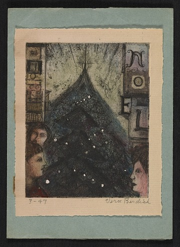 thumbnail image for Christmas card from Vera Berdich to Ethel Spears