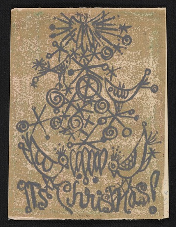 thumbnail image for Barbara Aubin Christmas card to Ethel Spears