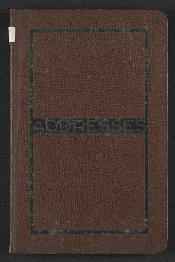 thumbnail image for Kathleen Blackshear's address book