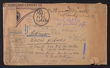 "thumbnail image for Envelope for Oscar Bluemner's art motif ""Patterson i.e. Paterson snow pictures"""