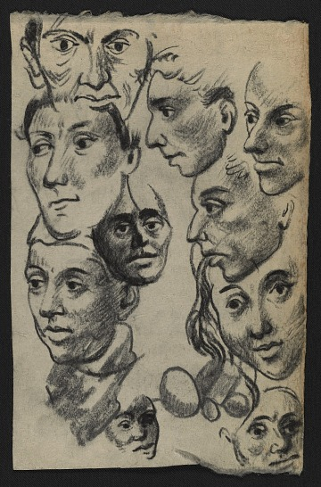 thumbnail image for Drawing of heads (#DHD ND-60)