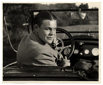 thumbnail image for Harry Bowden in a car