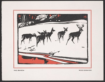 thumbnail image for Holiday card design of deer in snow