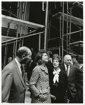 thumbnail image for Marcel Breuer and Jacqueline Kennedy touring the construction of the Whitney Museum of American Art