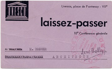 thumbnail image for UNESCO pass to the Tenth General Conference