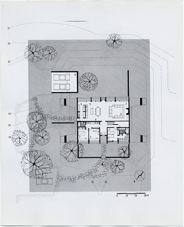 thumbnail image for Geller House II, Main Floor Plan, Lawrence, Long Island, New York