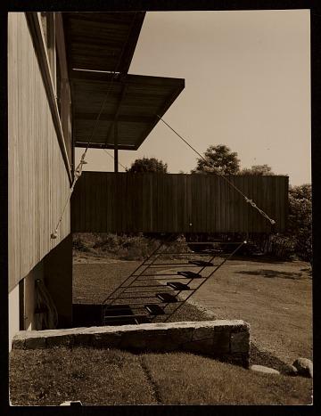 thumbnail image for Breuer House, New Canaan, Conn.. Rear entrance
