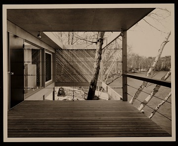 thumbnail image for Caesar Cottage, Lakeville, Conn., designed by Marcel Breuer. Rear view