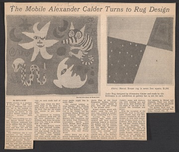 thumbnail image for The mobile Alexander Calder turns to rug design