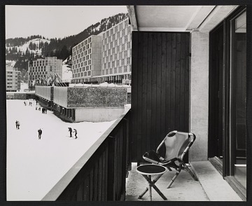 thumbnail image for View from a balcony at the Alderbaran apartment building in the Flaine Ski Resort in Haute-Savoie, France