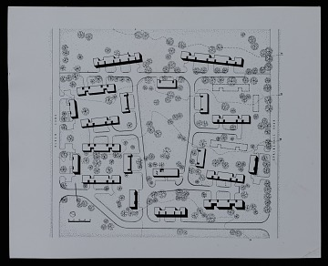 thumbnail image for Site plan for Members' Housing Project, Institute for Advanced Study, Louis Bamberger and Mrs. Felix Fuld Foundation, at Princeton University, Princeton, New Jersey