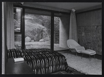 thumbnail image for Photograph of Dr. Koerfer's bedroom and interior court of Koerfer House, Moscia, Switzerland