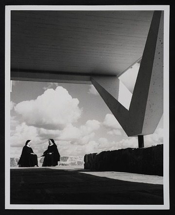 thumbnail image for Photograph of sisters in the open Cloister Walk at the Convent of the Annunciation