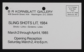 thumbnail image for B.R. Kornblatt Gallery records, 1971-1992
