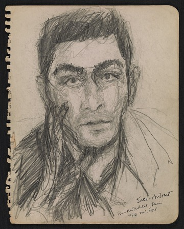 thumbnail image for Stan Brodsky self-portrait