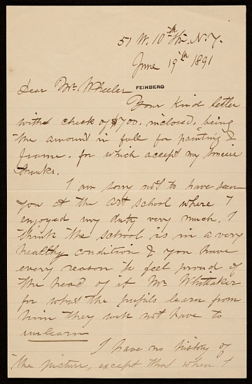 thumbnail image for John George Brown letter to Hayden W. Wheeler