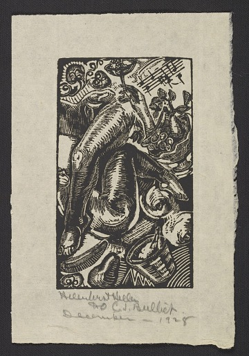 thumbnail image for Woodcut print by Helen West Heller