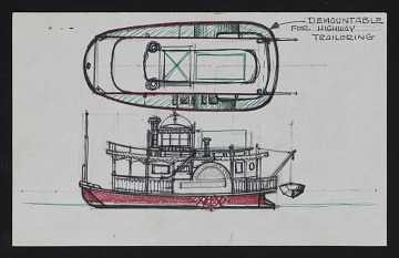 thumbnail image for Study of a steamboat