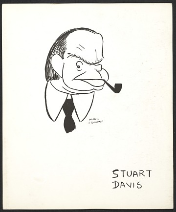thumbnail image for Reproduction of a caricature of Stuart Davis by Aline Fruhauf