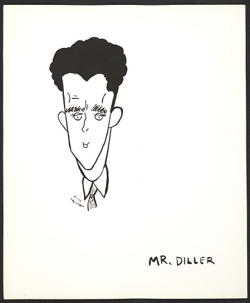 thumbnail image for Reproduction of a caricature of Burgoyne Diller by Aline Fruhauf