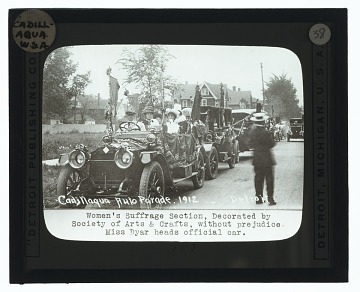 thumbnail image for Suffragists in the Cadillaqua auto parade, Detroit