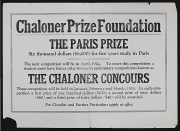 thumbnail image for Chaloner Prize Foundation records, 1915-1974