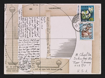 thumbnail image for Lenore Tawney mail art to Maryette Charlton